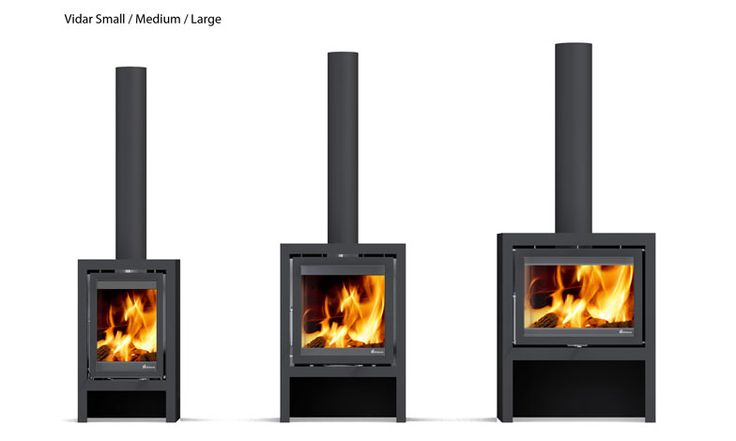 The Vidar is available in 3 different sizes, so you are sure to find one to suit your home. All models feature a handy built in log store. Outputs range from 2 - 8 kWs depending on the model selected.