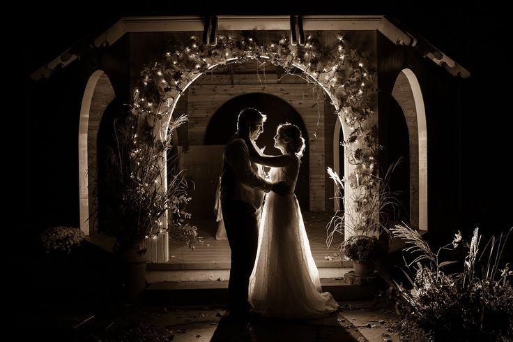 night wedding portrait, mariage la nuit