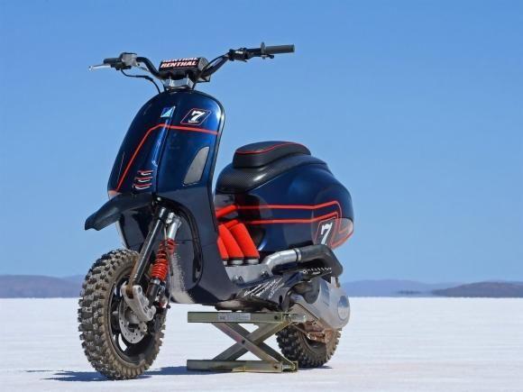 Motos Custom - Motos Customizadas - MOTO.com.br Vespa Austrália prepara scooter off road Vespa Desert Racer