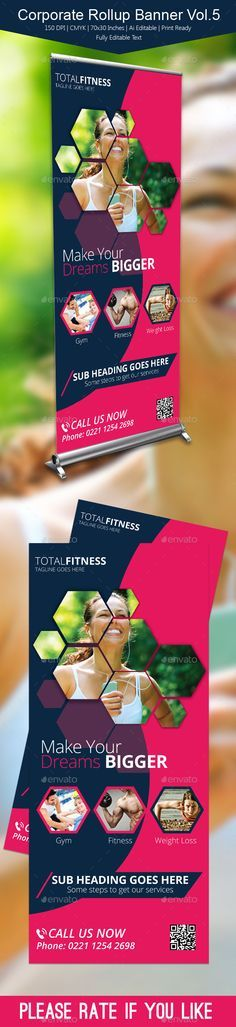 Corporate Rollup Banner Template #design Download: http://graphicriver.net/item/corporate-rollup-banner-vol5/10922211?ref=ksioks
