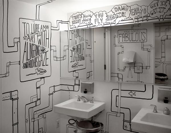 Black and white bathroom...my inspiration for my basement bathroom ...