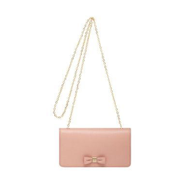 Mulberry Valentine's Treats - Bow Clutch Wallet in Ballet Pink Shiny Goat