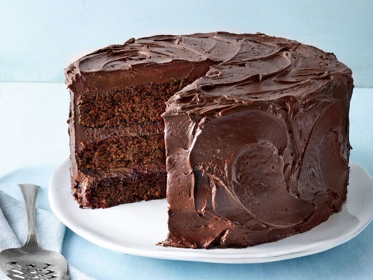 Chocolate Mayonnaise Cake | When you're in need of a delicious layer cake that is easy to make, look no further than this Chocolate Mayonnaise Cake. The deep flavor of this dessert, which is enhanced with coffee, contrasts nicely with the light and fluffy buttercream. This cake will be a hit on birthdays or a random Tuesday.
