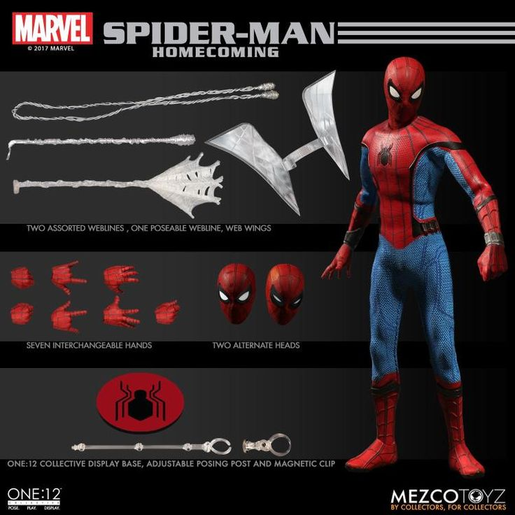 Up for preorder: Mezco One:12 Homecoming Spider-Man Tom Holland figure! Click the picture for more!