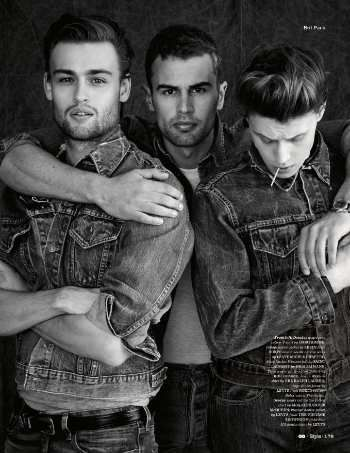 Douglas Booth,Theo James and George MacKay // This picture could not be more perfect.