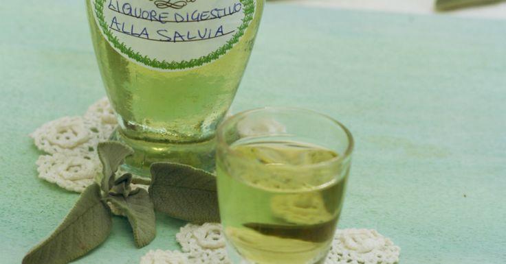Il liquore digestivo alla salvia è un vero tocca sano dopo pasto,si prepara in 20 minuti e non è troppo forte perchè si aggiunge anche il vino bianco,profumatissimo