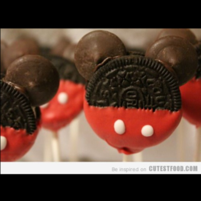 Mickey cake pops with oreos!