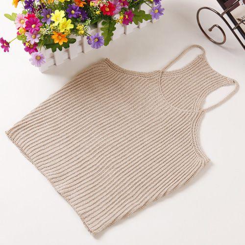 New Sexy Ladies Knitting spaghetti Strap Tops Women Fashion Slim Short camisole tops wild Harness Vest Summer Tank Tops 058 Love it? Get it here
