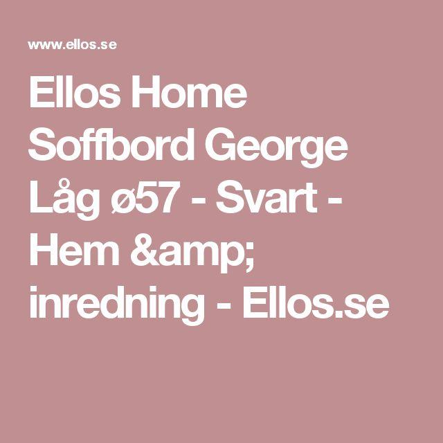 Ellos Home Soffbord George Låg ø57 - Svart - Hem & inredning - Ellos.se
