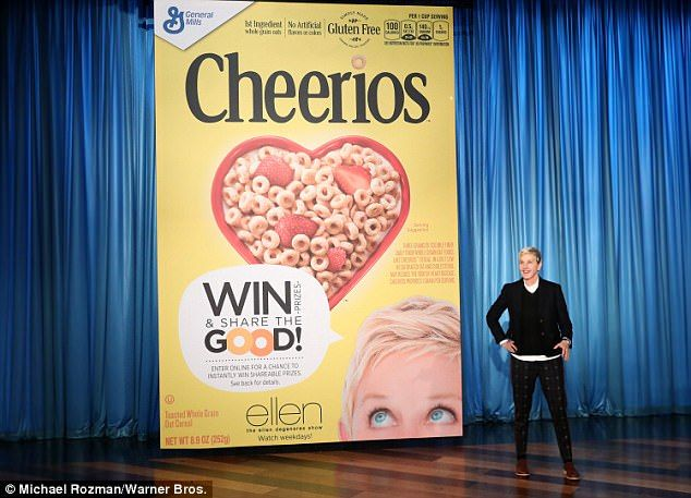 Ellen Degeneres gives away $1 million to audience members  Watch out Oprah Ellen Degeneres is taking gift giving to another level.  The talk show host who celebrated her 60th birthday on January 26 brought together people who have made a difference to join her for her two-day birthday extravaganza.  As part of the Million Acts of Good campaign in collaboration with Cheerios she was able to surprise everyone in the audience with the largest giveaway to date.  Its her birthday: Ellen Degeneres…