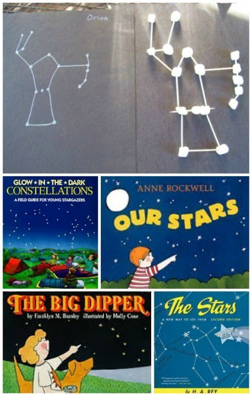 Such a creative activity after an evening of stargazing -- marshmallow constellations plus cool books about the night sky!