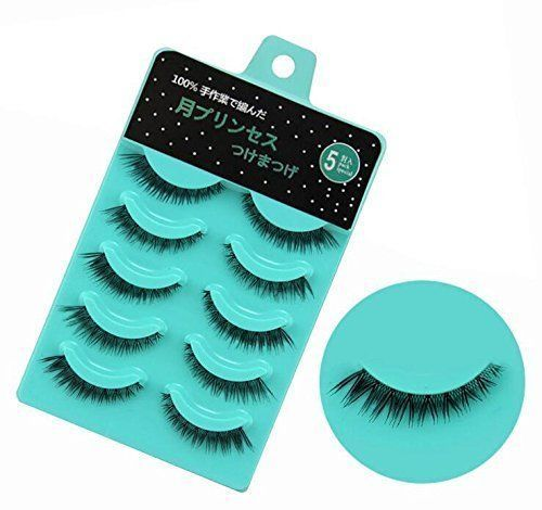 5 pcs 3D Cross Thick And Short False Eyelashes Makeup Accessories