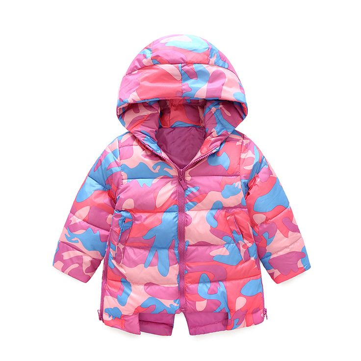 >> Click to Buy << Children 's new small children' s winter suit hooded jacket jacket in the long section of military camouflage clothing jacket   #Affiliate