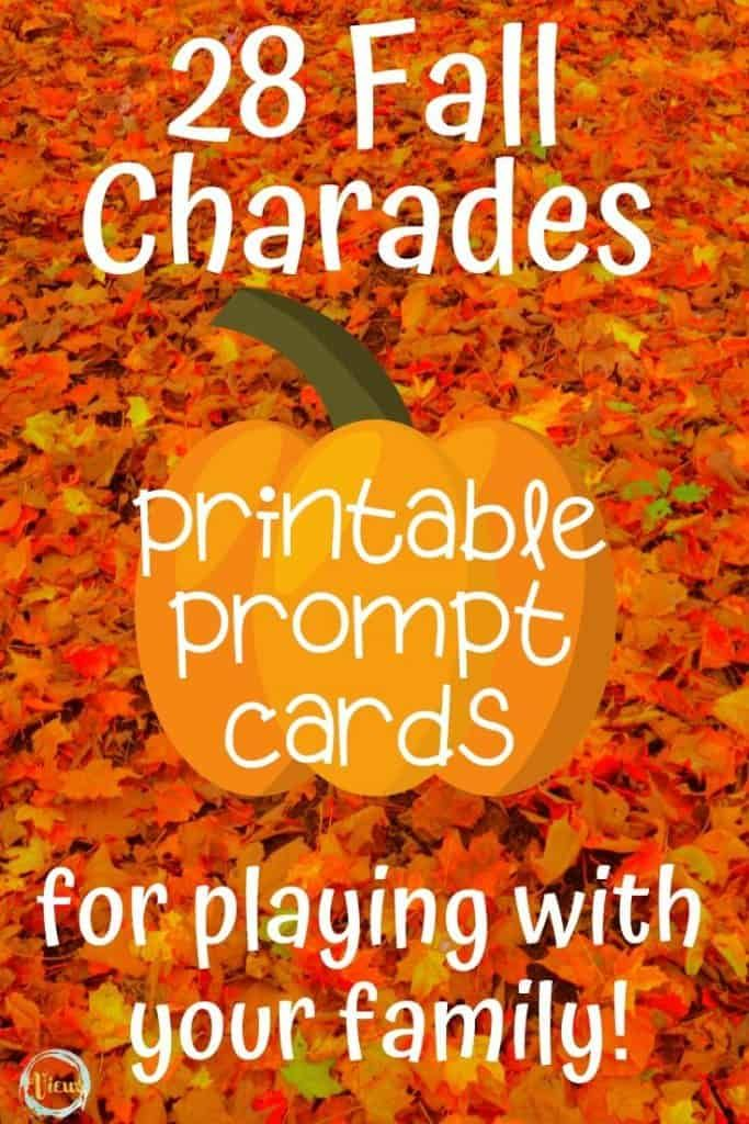 Fall Charades Printable Game for Families – Views From a Step Stool & The Mommy View
