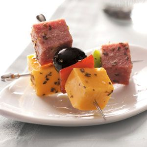 Marinated Sausage Kabobs