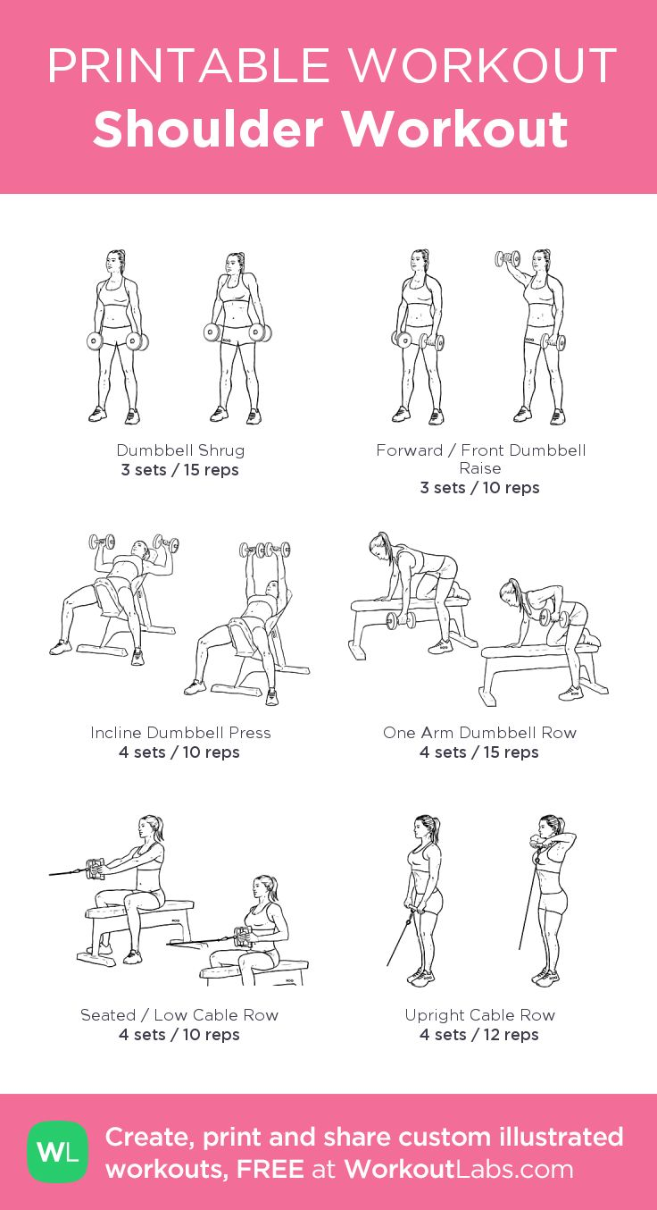 Shoulder Workout: my custom printable workout by @WorkoutLabs # ...