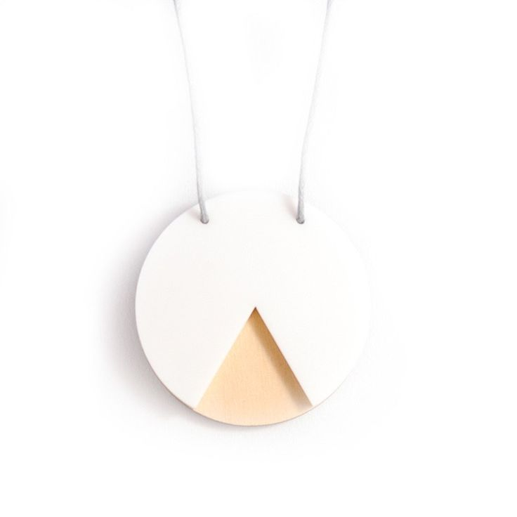 Amindy  - GEO - Circle Necklace - White and Ply - $30 - Shop online at www.amindy.com.au