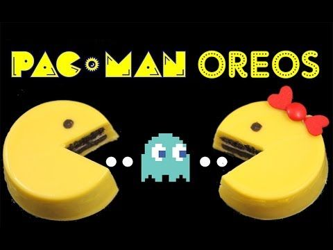 PACMAN Oreo Cookies - NO BAKE Pac Man Oreos by Cupcake Addiction - YouTube