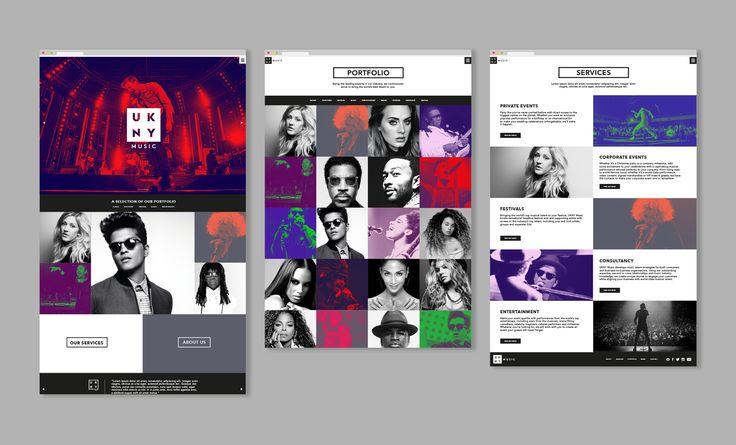 UKNY Music Events Branding Website. Designed by White Bear Studio.