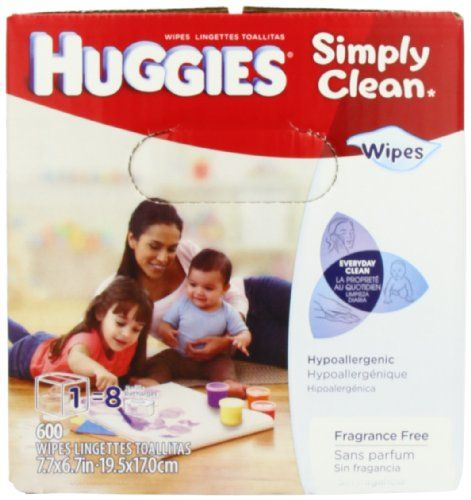 Huggies Simply Clean Fragrance Free Baby Wipes Refill, 600 Count | Multi City Health  List Price: $14.89 Discount: $2.92 Sale Price: $11.97