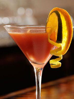 Flirtini 2oz. vodka 2 oz. pineapple juice 1 oz. black raspberry liqueur