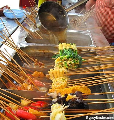 The best street food we've ever had. Dalian, China!  See more: http://www.gypsynester.com/dalian.htm #food #travel #china