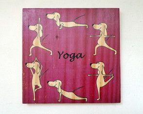 Quadro ilustração - Dog yoga