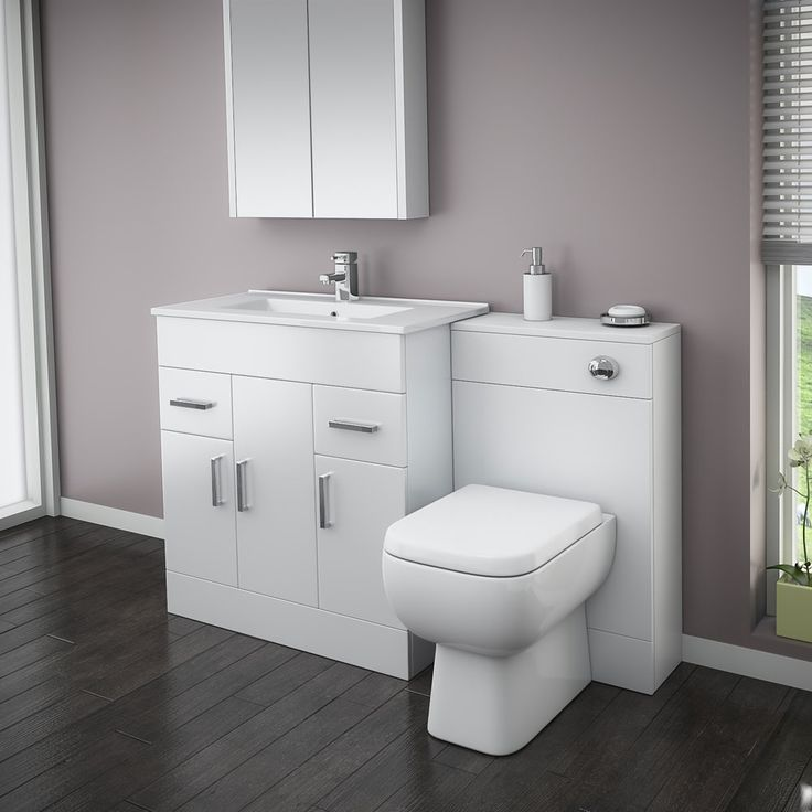 Turin High Gloss White Vanity Unit Bathroom Suite With: 17 Best Ideas About Bathroom Vanity Units On Pinterest