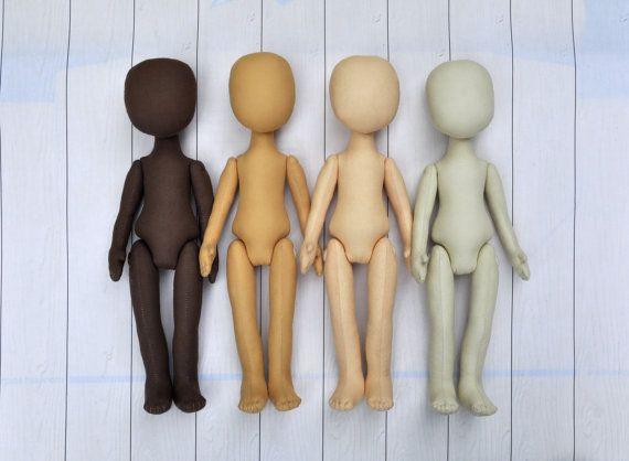 "4 Blank doll bodies-15"", Mary Doll, blank rag doll, ragdoll body,the body of the doll made of cloth"