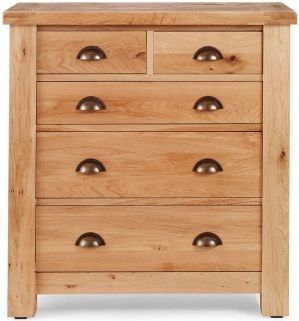 Willis and Gambier Originals Normandy Oak 2+3 Low Chest of Drawer
