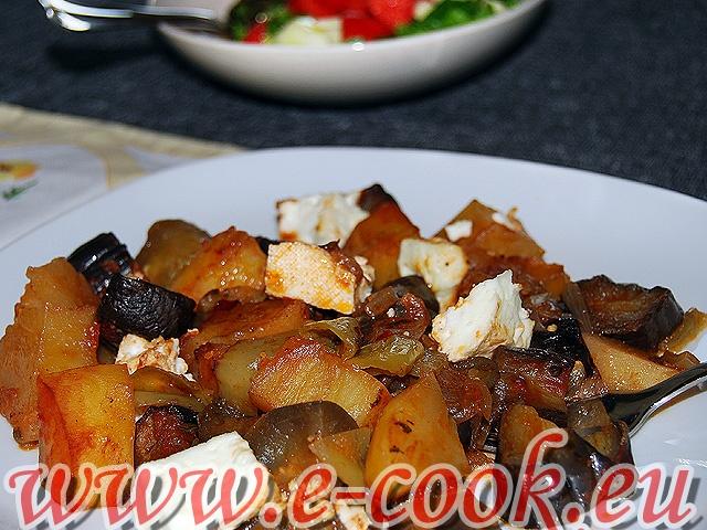 Λαχανικά με φέτα στο φούρνο. | Συνταγές μαγειρικής e-cook.gr