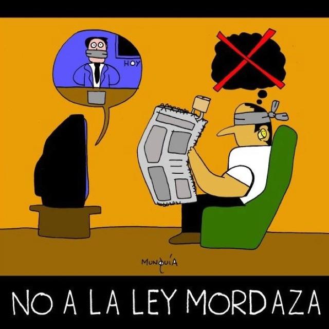 No a la ley mordaza, no a la #dictadurademocrática !!!