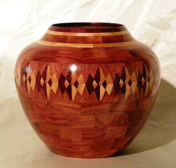 Beautiful segmented turned urn by passionsinwood on Etsy, $249.00