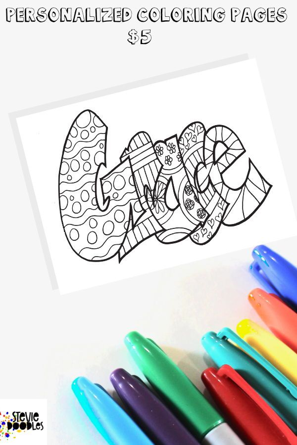 Personalized Coloring Pages