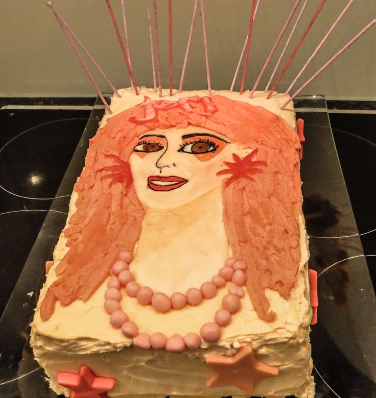 Jem and the Holograms Cake I made for a friends 1984 themed 30th #jemandtheholograms