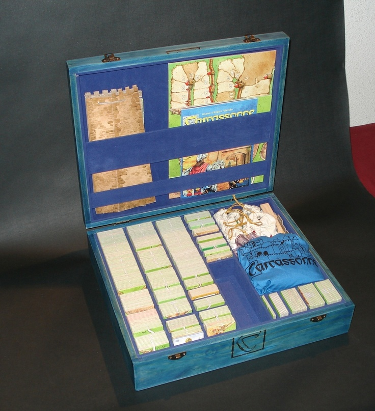A Custom-Homemade Wooden Box (Storage solution for Carcassonne) | BoardGameGeek