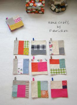make some potholders/tiny quilts