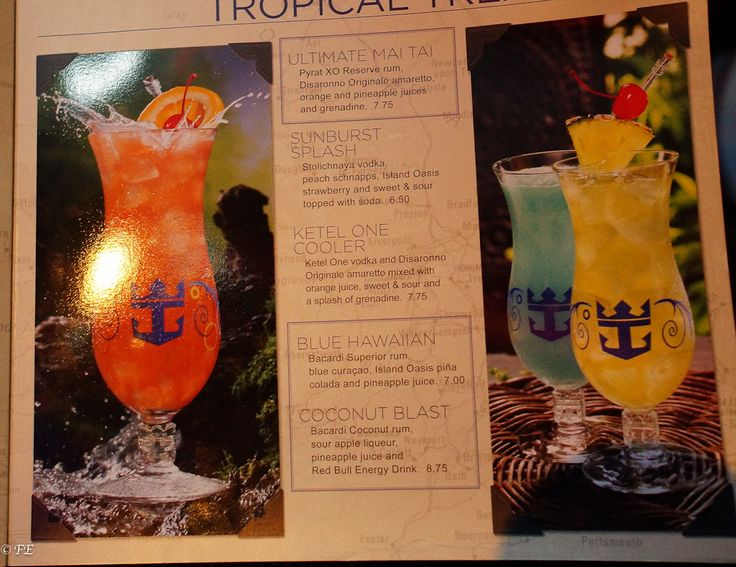 Royal Caribbean Drink Menus