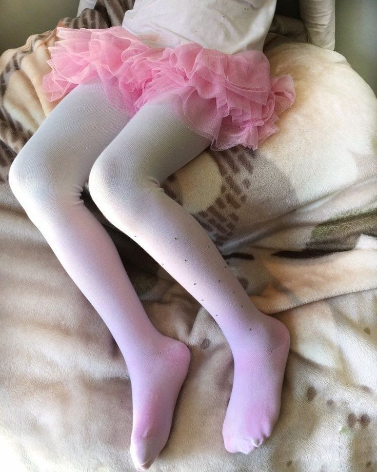 Hand Dyed Tights Girls Ombre rhinestones pink white blue