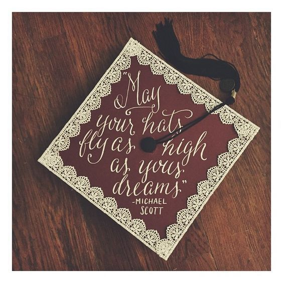 Pin for Later: 43 DIY Graduation Cap Ideas That Will Majorly Inspire You – #DIYGraduationCongratulations #DIYGraduationLeis #DIYGraduationPomPoms