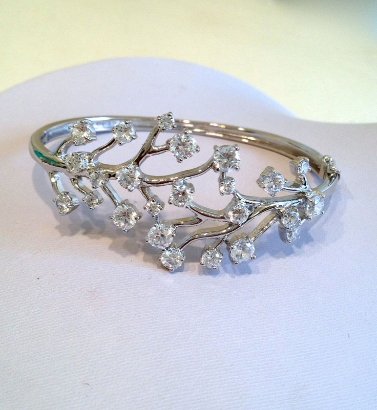 Vintage Sterling Silver Estate Jewelry Bracelet via Etsy.