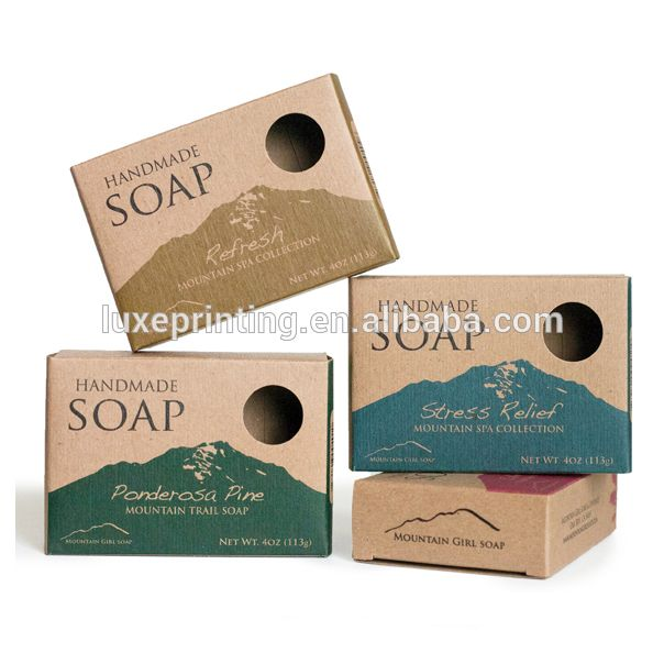Custom Logo Printed Small Product Bar Soap Packaging Craft Paper Box With Round Hole Find Complete D Soap Packaging Design Soap Packaging Box Kraft Packaging