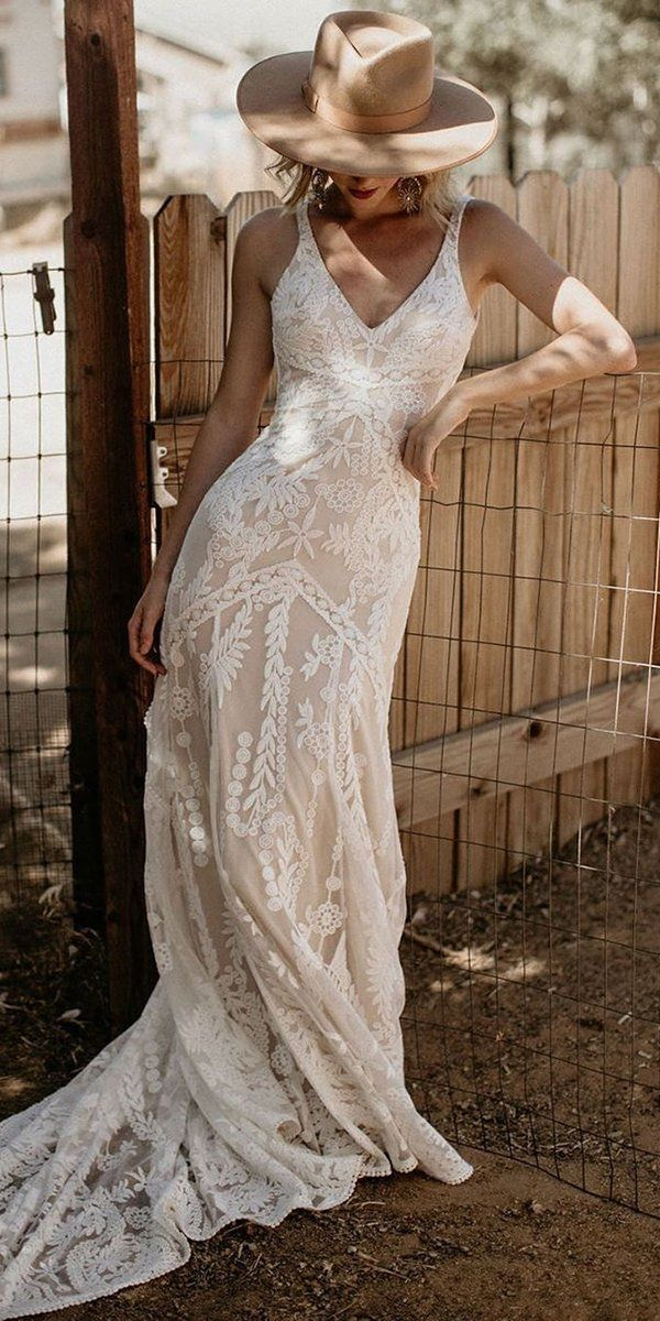 39 Boho Wedding Dresses Of Your Dream Country Style Wedding Dresses Country Wedding Dresses Country Wedding Gowns