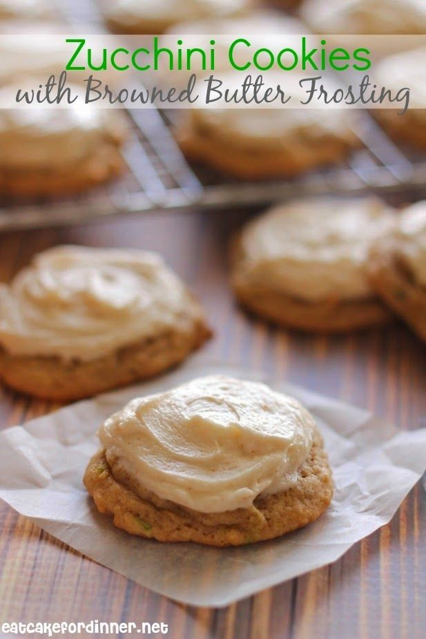 Softest Zucchini Cookies with Browned Butter Frosting - Eat Cake For Dinner