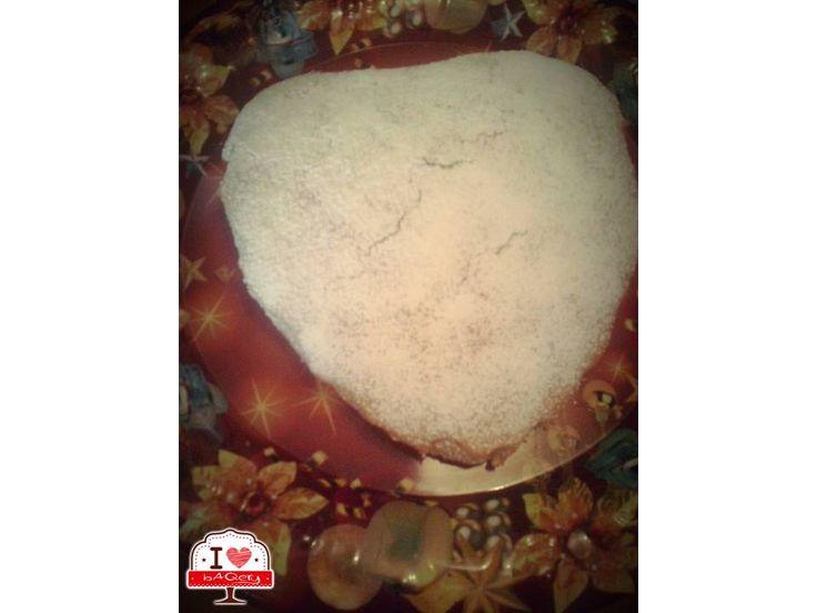 Noi abbiamo pensato anche ai vegani....con questa torta a cuore senza né uova né burro!  #ilovebaqery #buonpomeriggioatutti #vegani #tortaacuore #néuovanéburro #buonamerenda