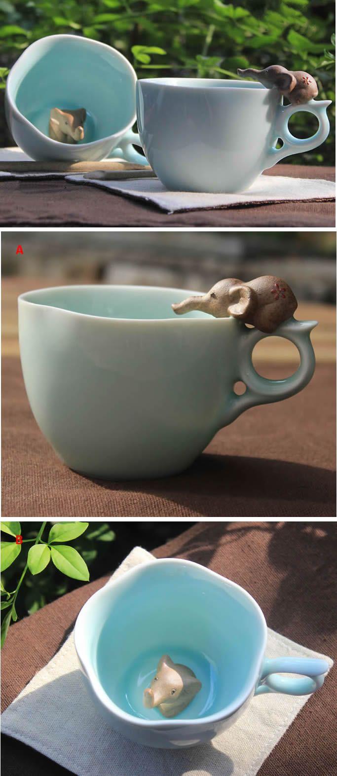 Ceramic Elephant Figurine Coffee Cup Coffee Mug                                                                                                                                                                                 More