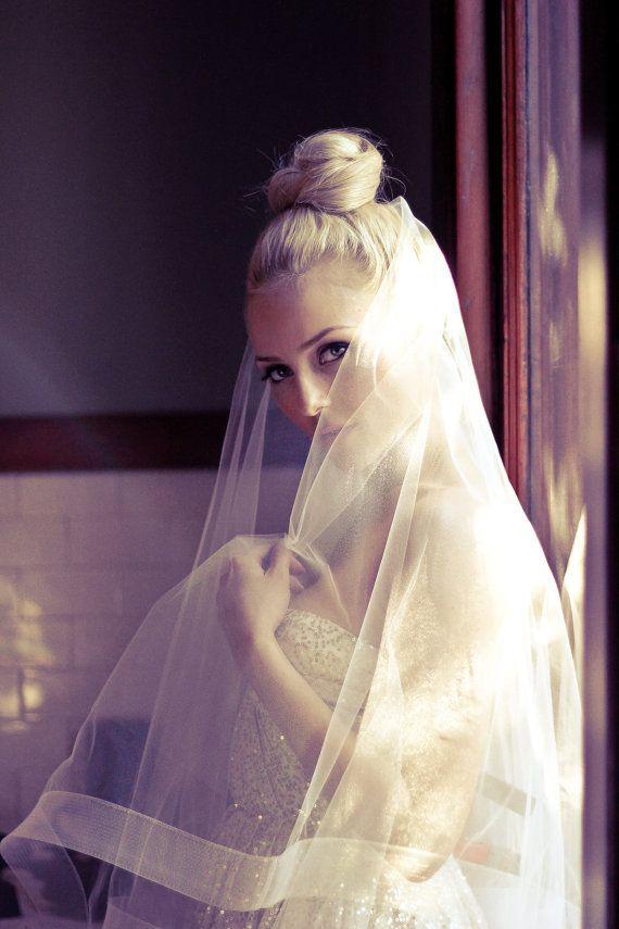 104 best WEDDING VEILS images on Pinterest | Wedding cape veil ...