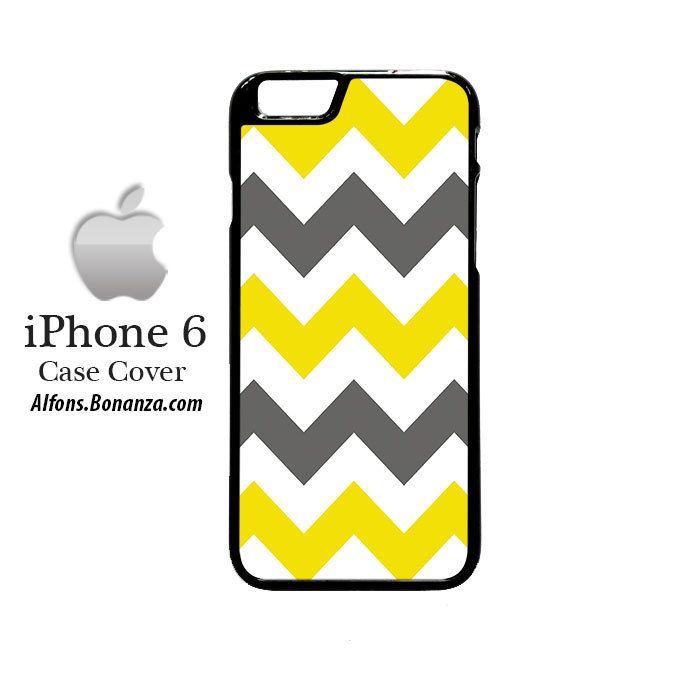 Chevron Grey Yellow iPhone 6 Hard Case
