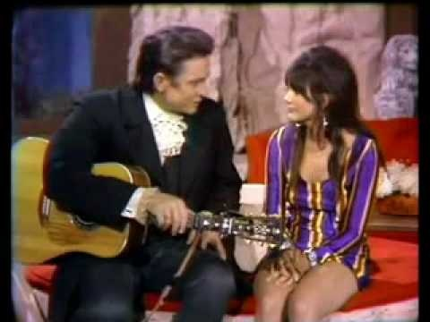 Linda Ronstadt and Johnny Cash.....I Never Will Marry.  Great duo.  Remember seeing her at age maybe 14 or 15, first time she was on the Johnny Cash show and she was barefoot.  Have always liked her.....and Johnny too.