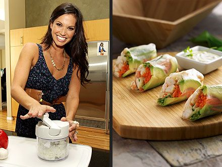 Melissa Rycroft's Pampered Chef's Spring Rolls Recipe.
